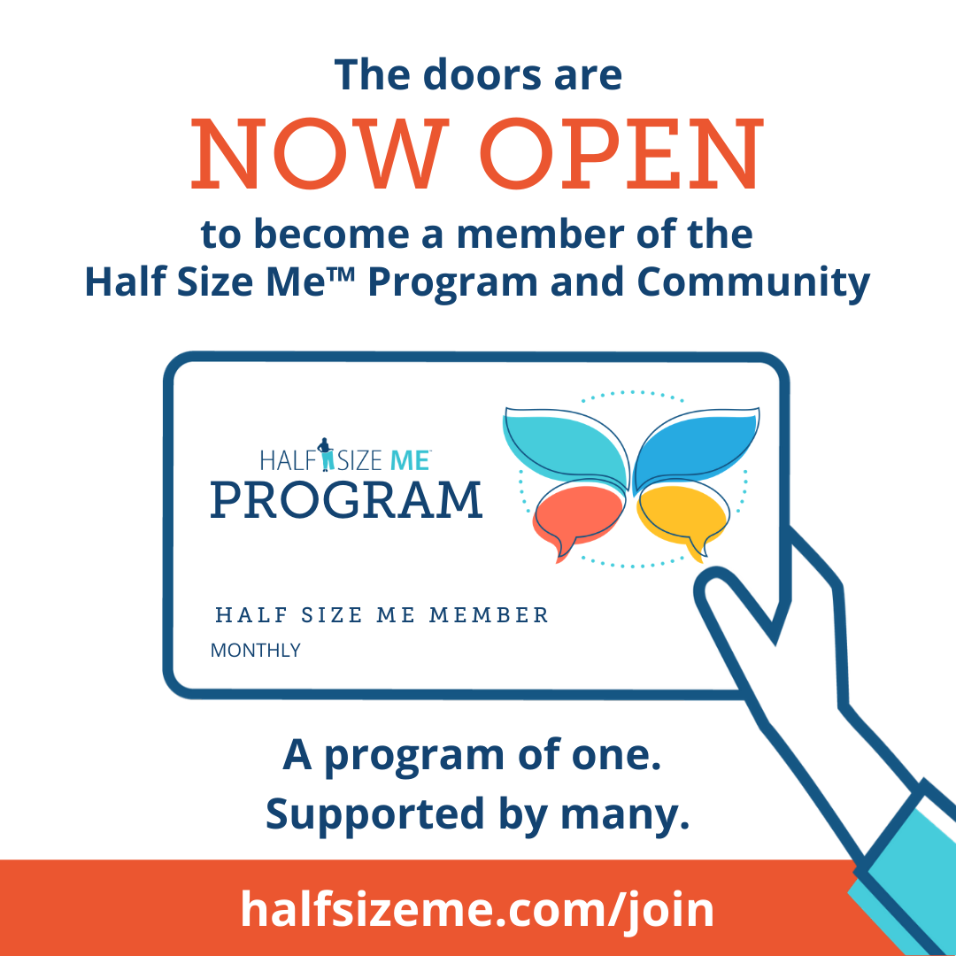 Half Size Me Program + Community Membership Image